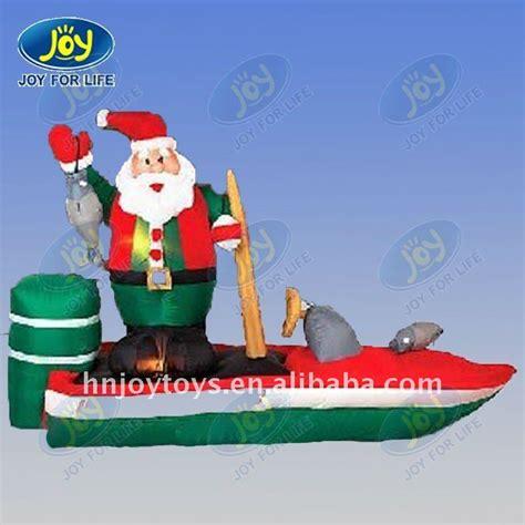 inflatable santa in boat 2011 pop santa hooked on bass boat buy santa hooked on