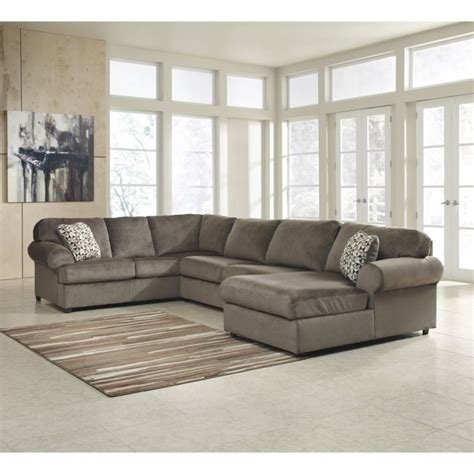 jessa place 3 piece sectional ashley jessa place 3 piece fabric left facing sectional in