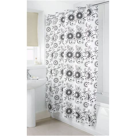 Hookless shower curtain black and white house design and office hookless shower curtain ideas
