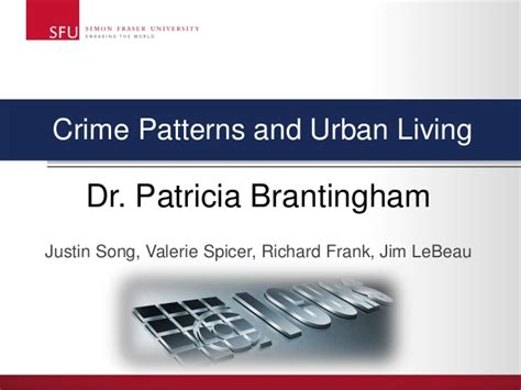 crime pattern theory brantingham crime patterns and urban living dr patricia brantingham