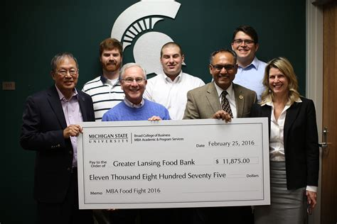Mba Along With The by Mba Students Raise Five Figure Donation To Greater Lansing