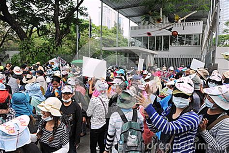 netherlands embassy bangkok map workers protest editorial stock image image 29843404