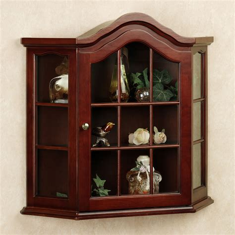 Small Curio Cabinet Wall Curio Cabinet With Glass Doors Glass Door Curio Cabinet