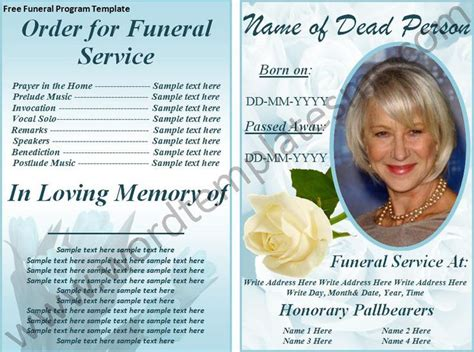 funeral brochure template 17 best images about memorial brochure and scripts on