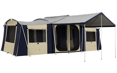 three room cabin tent oztrail chateau 10 family canvas cabin tent 3 room ebay