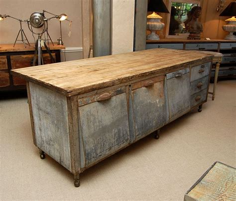 Maple Kitchen Tables Galvanized Steel Kitchen Prep Table With Maple Chopboard Top At 1stdibs