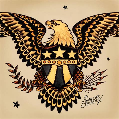 american traditional eagle tattoos norman quot sailor jerry quot collins eagles are symbols for