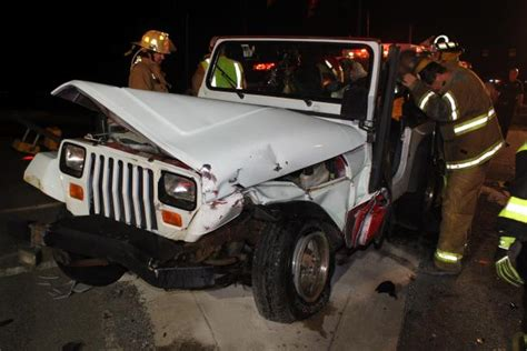 crashed white jeep wrangler airlifted following 2 vehicle hometown crash times