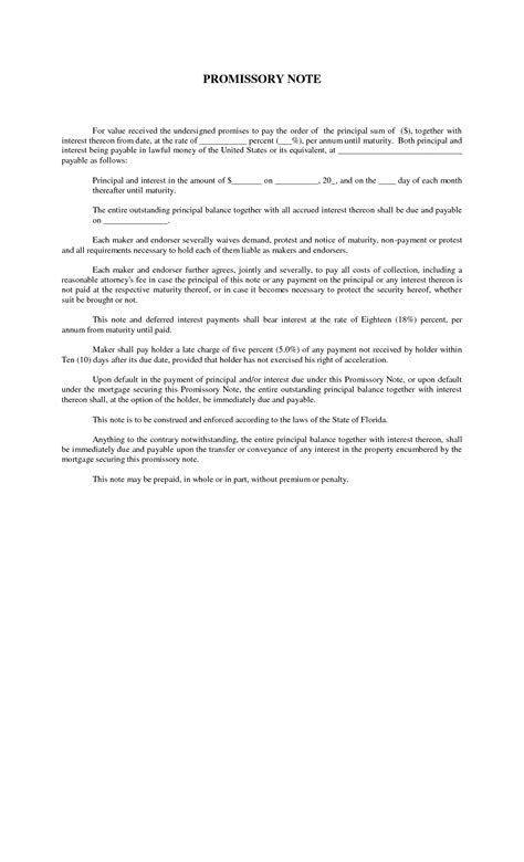 best photos of print copy of promissory note free blank