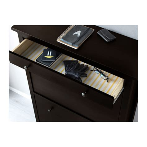 Hemnes Shoe Cabinet by Hemnes Shoe Cabinet With 2 Compartments Black Brown 89x127