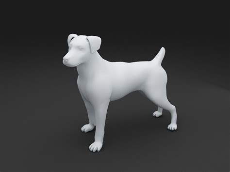 jack russell terrier dog model  model  printable stl