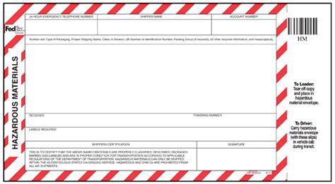 Class 6 Toxic Pierremaringka Hazmat Shipping Papers Template