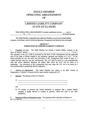 Sle Operating Agreement For Llc Fill Online Printable Fillable Blank Pdffiller Operating Agreement For Single Member Llc Template