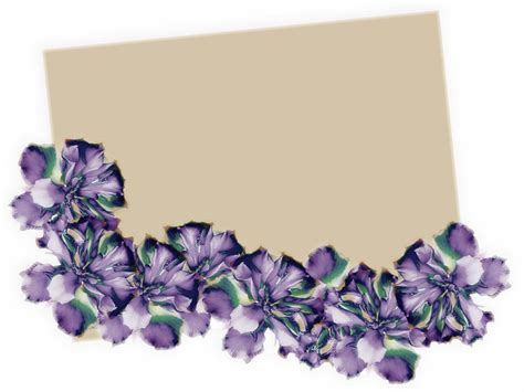 flowers beautiful border backgrounds presnetation ppt