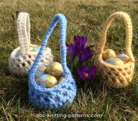 free knitted easter basket patterns abc knitting patterns small easter basket
