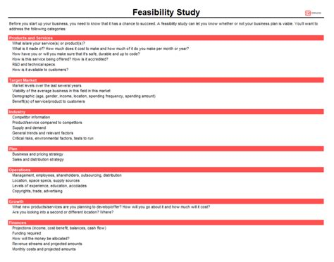 business feasibility study template free feasibility study templates for word excel business
