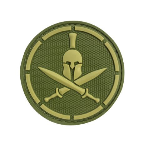 line tactical spartan dash line green tactical rubber patch
