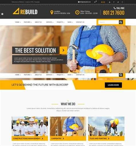 35 Best Architecture Construction Website Templates 2018 Freshdesignweb Best Template Based Website Builder