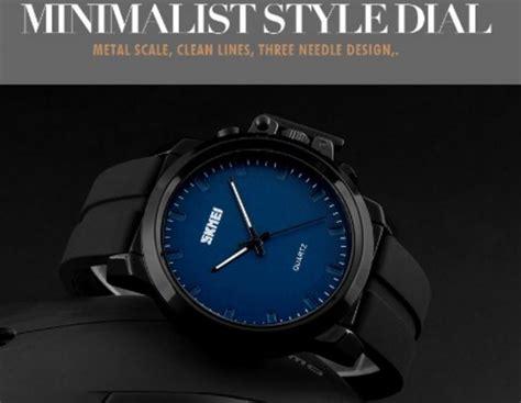 Skmei Casual Leather Water Resistant 30m 1208 Emws5y skmei jam tangan analog pria kulit 1208 black