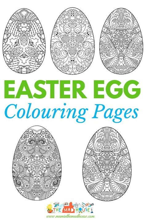 coloring egg ideas easter colouring pages intricate eggs coloring