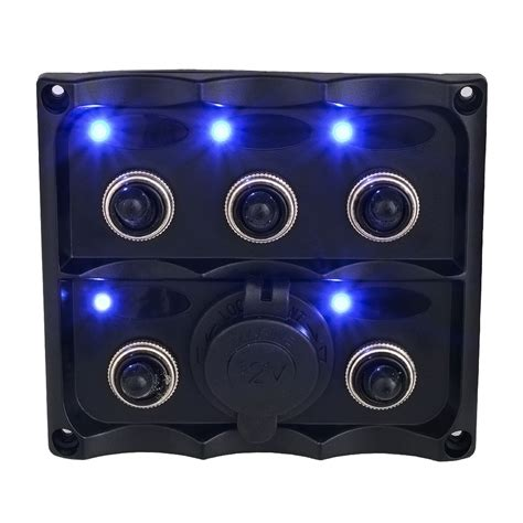 Sale 6a Circuit Breaker Push Button Protector universal 5 waterproof car auto boat marine led switch panel circuit breakers in car