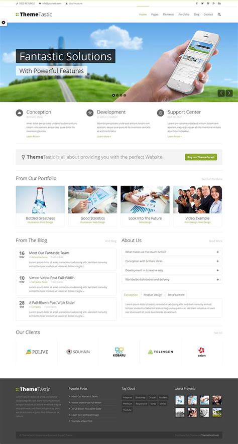themes drupal download themetastic responsive drupal theme for business