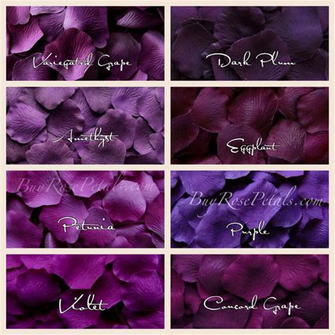 types of purple 1 000 purple rose petals shades of purple silk rose