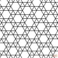 tessellation templates tessellation with triangle and hexagon coloring page
