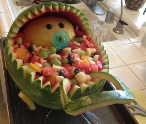 Salad For Baby Shower by Baby Shower Fruit Salad Baby Carriage Planning
