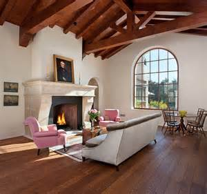 French Country Style Bathrooms - hope ranch spanish style custom home mediterranean living room santa barbara by allen