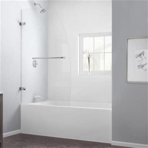 Home Depot Bathtub Shower Doors Dreamline Aqua Uno 34 In X 58 In Frameless Pivot Tub Shower Door In Chrome Shdr 3534586 01