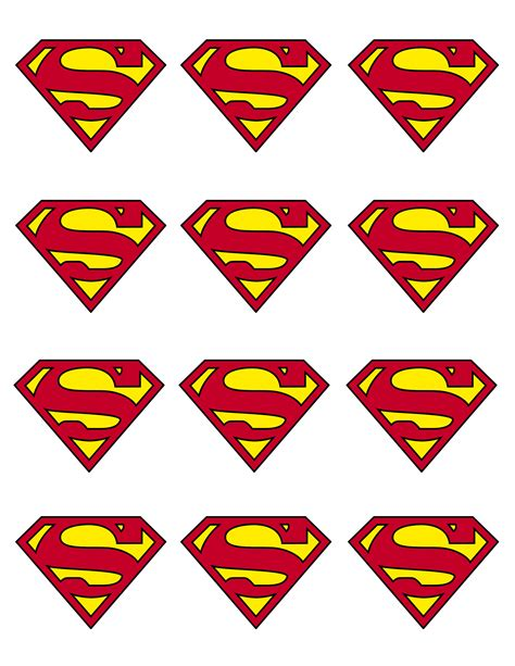 superman logo template superman printable cupcake templates