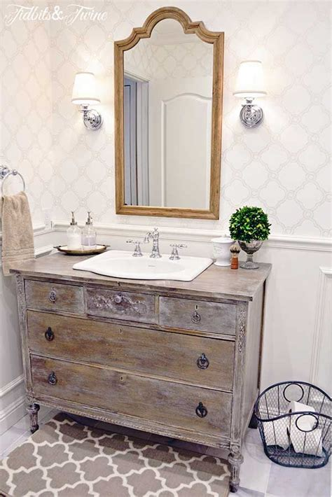 Guest Bathroom Makeover Reveal Twine And Bathroom Vanities Guest Bathroom Vanities