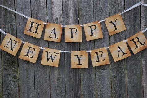new year banner images items similar to happy new year banner new year vintage