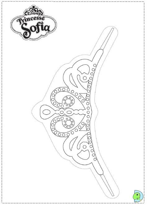 princess sofia crown coloring pages coloring pages
