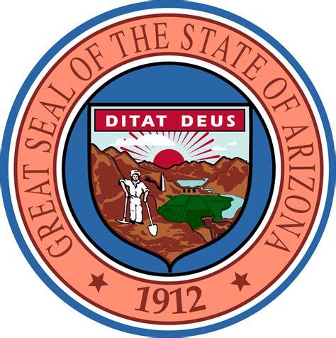 Arizona State by Arizona Flags Emblems Symbols Outline Maps