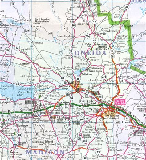 Oneida County Ny Property Records Oneida County Map New York New York Hotels Motels