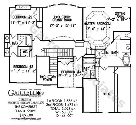 somerset house plan somerset house plan house plans by garrell associates inc