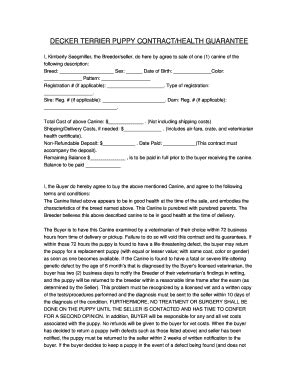 puppy sale contract pdf puppy sale contract template forms fillable printable sles for pdf word