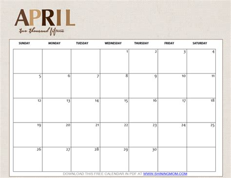 cute printable planner 2016 pdf cute april 2016 calendar