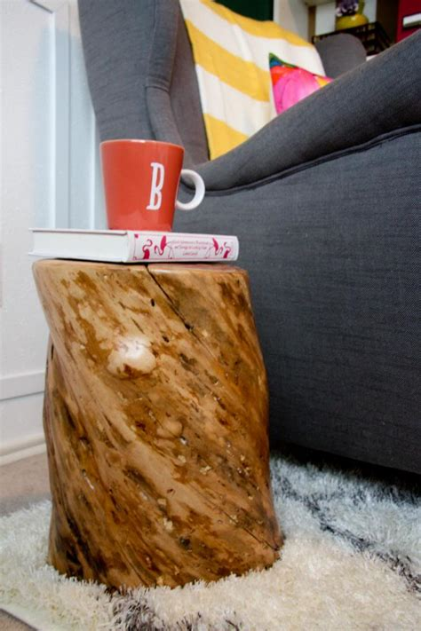 Tree Stump Side Table Tree Trunk Side Table Contribute Immense Accent Homesfeed