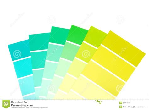 paint chips green to blue color paint chips royalty free stock images