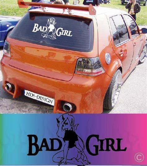 Heckscheibenaufkleber Pink by Bad Car Sticker Decal Aufkleber Autoaufkleber