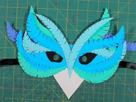 A Mask Out Of Paper - how to craft paper masks make
