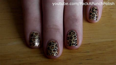 leopard nail art tutorial youtube how to leopard print nail art tutorial youtube