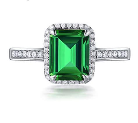 1 50 carat princess cut emerald and halo