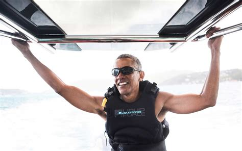 obama s vacation barack obama is kitesurfing with richard branson and