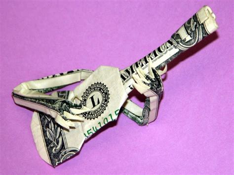 Origami Guitar - details about beautiful money origami pieces many