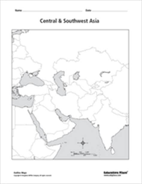 blank outline maps education place asia outline map lesson plans worksheets reviewed by