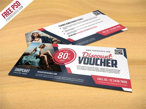discount card template psd discount voucher psd template freebie psdfreebies